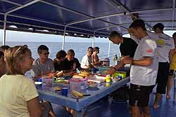 Lunch onboard the ship with lanta divers