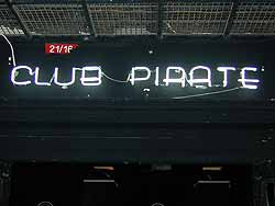 The Neon Sign of Club Pirate